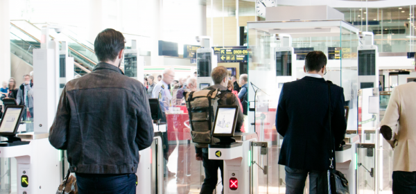 ISS Turnstile face recognition solution